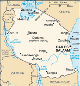 Tanzania map small